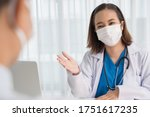 Patient Visiting Female Doctor...