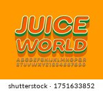 vector bright emblem juice...   Shutterstock .eps vector #1751633852