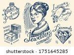 women's jewelry shop badges and ... | Shutterstock .eps vector #1751645285