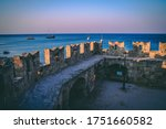 Rhodes Old Town Stone Walls In...