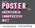 3d bold typography design vector | Shutterstock .eps vector #1751670518