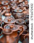 Brown Ceramic Pots And Jugs...