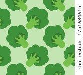 broccoli cabbage seamless...   Shutterstock .eps vector #1751684615