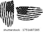 usa flag   distressed american... | Shutterstock .eps vector #1751687285