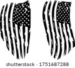 usa flag   distressed american... | Shutterstock .eps vector #1751687288