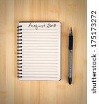 to do list for 2014 august | Shutterstock . vector #175173272