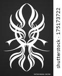 tribal tattoo design | Shutterstock .eps vector #175173722