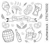 vector set of october fest in...   Shutterstock .eps vector #1751740232