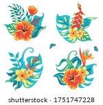 summer tropical background... | Shutterstock .eps vector #1751747228