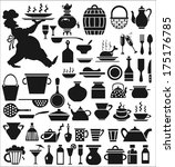image of various icons on a... | Shutterstock .eps vector #175176785