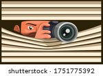 paparazzi take picture using... | Shutterstock .eps vector #1751775392