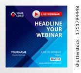 live webinar invite template.... | Shutterstock .eps vector #1751794448