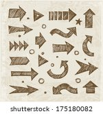 sketch arrow collection for... | Shutterstock .eps vector #175180082