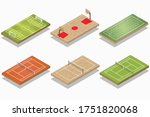 vector set of isometric sport...   Shutterstock .eps vector #1751820068