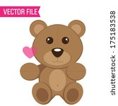 vector valentine's day teddy... | Shutterstock .eps vector #175183538