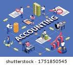 Accounting Isometric Flowchart...