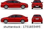 realistic car. sedan. front...   Shutterstock .eps vector #1751855495