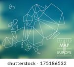 map of europe. map concept | Shutterstock .eps vector #175186532