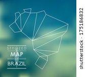 map of brazil. map concept | Shutterstock .eps vector #175186832