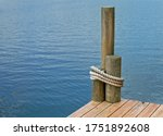 The Corner Of A Boat Dock  On A ...