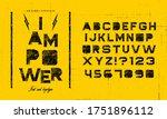 grunge scratch type font ... | Shutterstock .eps vector #1751896112
