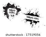 a few different grunge splatter ... | Shutterstock . vector #17519056