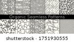 set of 10 seamless vector... | Shutterstock .eps vector #1751930555