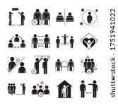 covid 19 coronavirus social... | Shutterstock .eps vector #1751941022