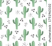 Seamless Pattern With Cacti In...