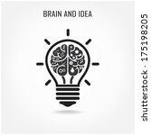 creative brain idea concept... | Shutterstock .eps vector #175198205
