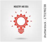 creative light bulb concept... | Shutterstock .eps vector #175198238