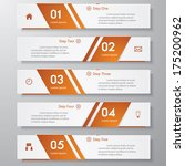 design clean number banners... | Shutterstock .eps vector #175200962