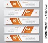 design clean number banners... | Shutterstock .eps vector #175200962
