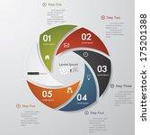 design clean number banners... | Shutterstock .eps vector #175201388