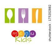 kids menu  | Shutterstock .eps vector #175202882