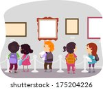illustration of kids looking at ... | Shutterstock .eps vector #175204226