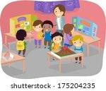illustration of kids displaying ... | Shutterstock .eps vector #175204235