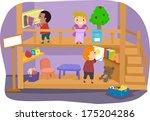 illustration of a group of kids ... | Shutterstock .eps vector #175204286