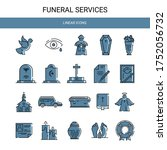 Funeral Service. Set Of Linear...