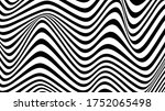 black and white line curve... | Shutterstock .eps vector #1752065498