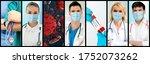coronavirus covid 19 photo set... | Shutterstock . vector #1752073262