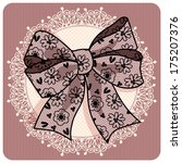 Illustration With A Lace Bow.