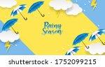 rainy season. design with...   Shutterstock .eps vector #1752099215