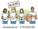 world environment day. a group... | Shutterstock .eps vector #1752105182