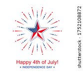 vector independence day with...   Shutterstock .eps vector #1752108872
