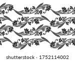 seamless vintage floral border... | Shutterstock .eps vector #1752114002