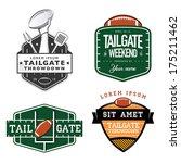 set of american football... | Shutterstock .eps vector #175211462