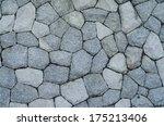 stony gray wall background | Shutterstock . vector #175213406