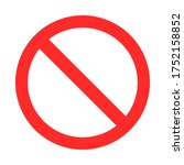 red prohibition sign on white... | Shutterstock .eps vector #1752158852