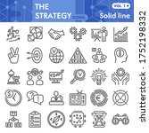 strategy line icon set ... | Shutterstock .eps vector #1752198332